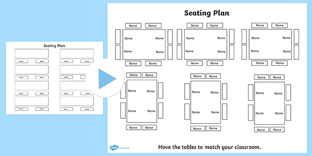 Free Editable Table Plan Classroom Seating Plan Template