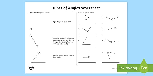 Ks2 Types Of Angles Worksheet Maths Angles Worksheet