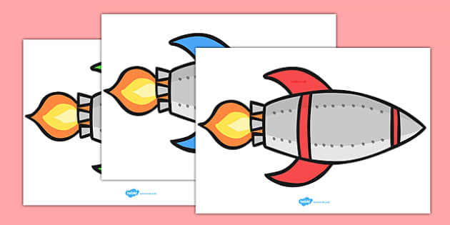 Rocket, Display, Poster, Editable