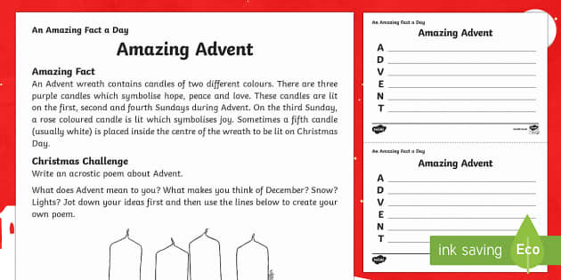 all about advent worksheet teaching resource twinkl. Black Bedroom Furniture Sets. Home Design Ideas