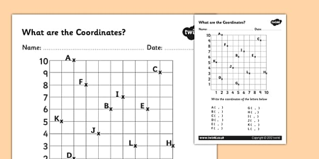 Ks2 Coordinates Primary Resources