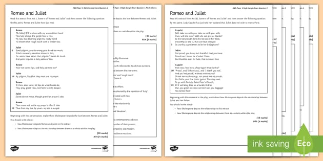 top romeo and juliet teaching resources