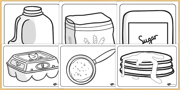 pancakes coloring pages - photo#11