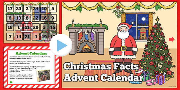 advent facts christmas advent calendar powerpoint. Black Bedroom Furniture Sets. Home Design Ideas