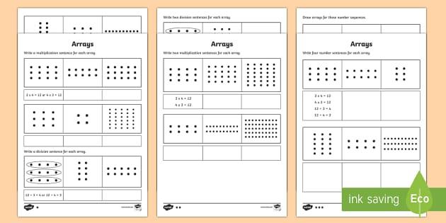 year 2 maths arrays homework worksheet activity sheet year. Black Bedroom Furniture Sets. Home Design Ideas