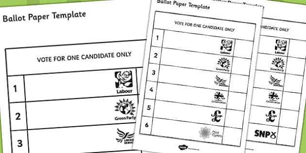 Ballot Paper Template - ballot, paper, template, role-play ...
