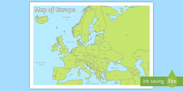 Map Of Europe Teacher Made