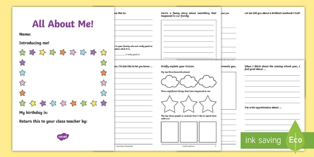uks2 all about me transition booklet