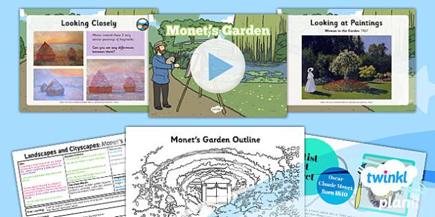 art and design landscapes and cityscapes monets garden ks1 - Garden Design Ks2