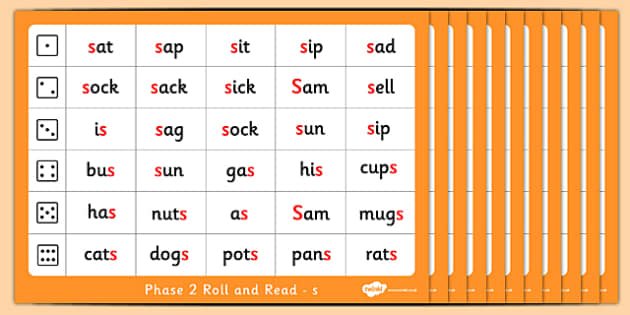Phase 2 Roll and Read Pack phase two reading dice games