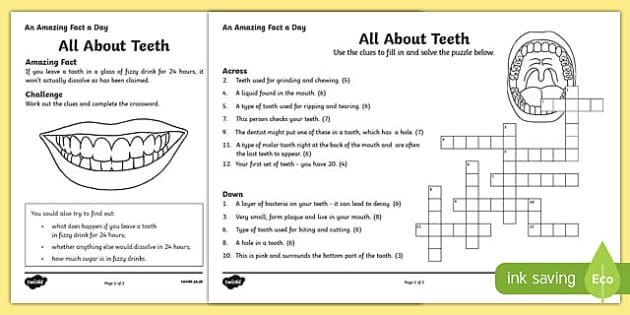 It's just an image of Clever Dental Activity Sheets