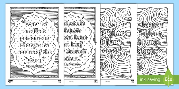Classroom Inspiration Quotes Mindfulness Colouring Pages
