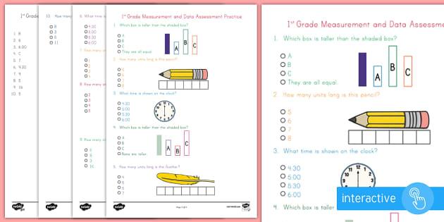 first grade measurement and data online assessment practice. Black Bedroom Furniture Sets. Home Design Ideas