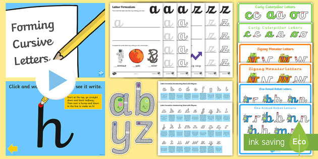 How To Learn Cursive Writing - Practice Workbook For KS1