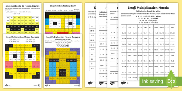 Emoji Maths Activity Pack Addition Subtraction Colour Colouring Rhtwinklau: Emoji Math Coloring Pages At Baymontmadison.com