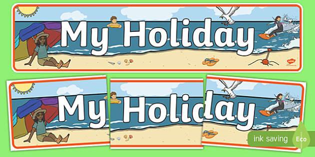 My Holiday Display Banner