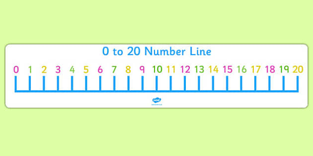 Number Lines to 20 - Primary Resource - KS1