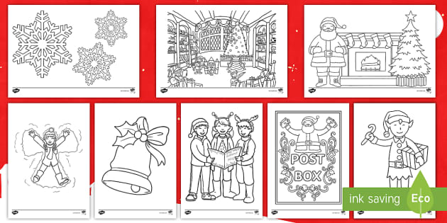 Coloring Sheets Christmas Ks1 Primary Resources