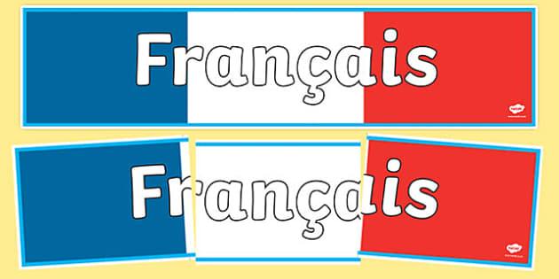 Modern Language Classroom ~ French display banner francais mfl modern