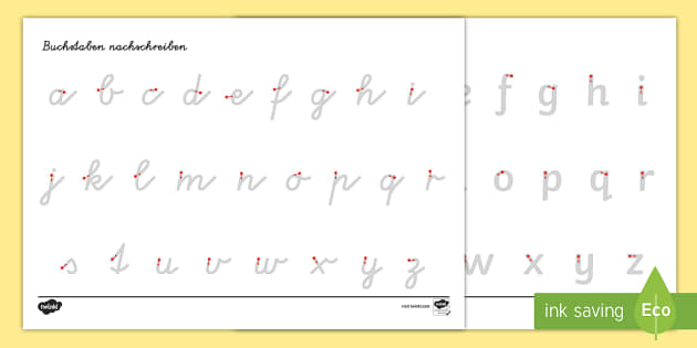 Arbeitsblatt Erstes Schreiben: Buchstaben und Zahlen nachspuren