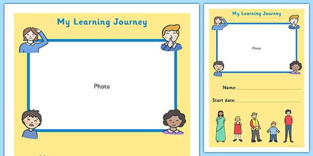Book Cover Template Twinkl : My learning journey front cover ourselves themed