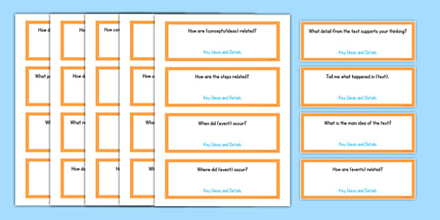 Second Grade Reading Informational Texts Editable Question Cards