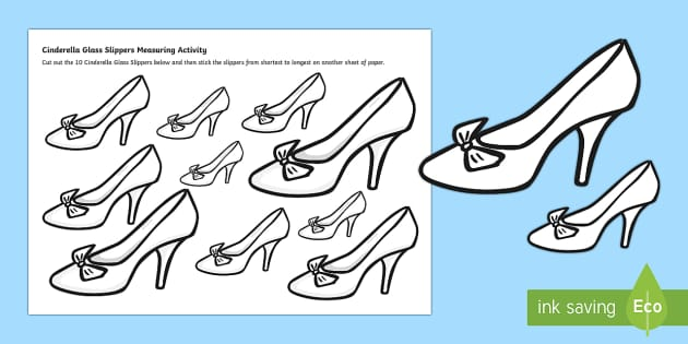 cinderella 39 s slipper measurement worksheet worksheet short long length. Black Bedroom Furniture Sets. Home Design Ideas