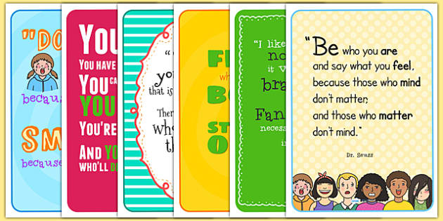 Dr Seuss Classroom Posters Inspirational Quotes Primary