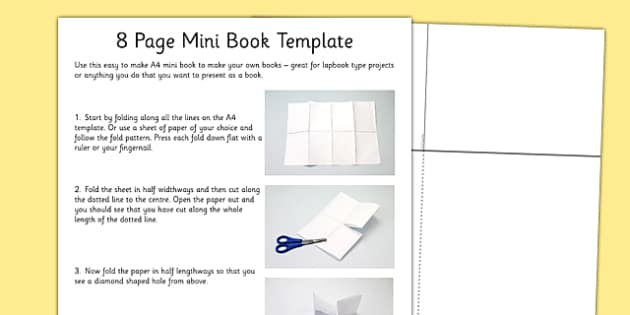 8 page mini book template 8 page mini book template mini
