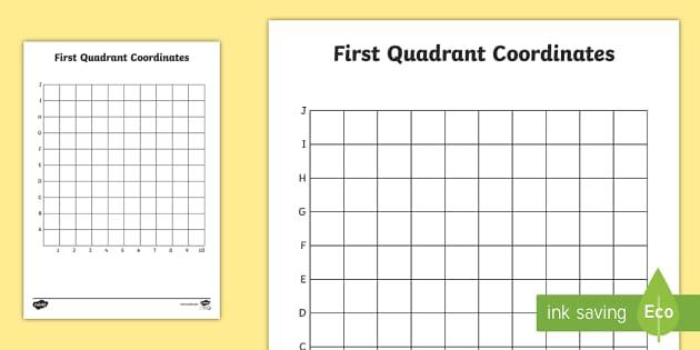First Quadrant Grid Quadrant Grid Coordinates