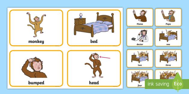 Five Little Monkeys - ESL worksheet by yazdica | 315x630