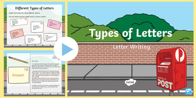 Types of Letters PowerPoint - letters, informal letter, formal ... on