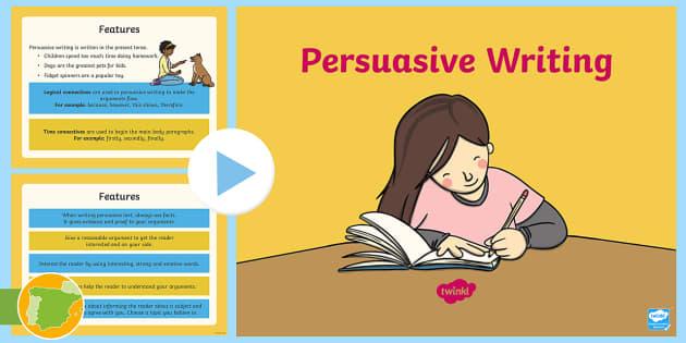 reading persuasive text