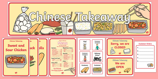 Chinese Take Away Role Play Pack - chinese take away, role ...