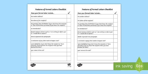 Formal Letter Examples Resource Pack