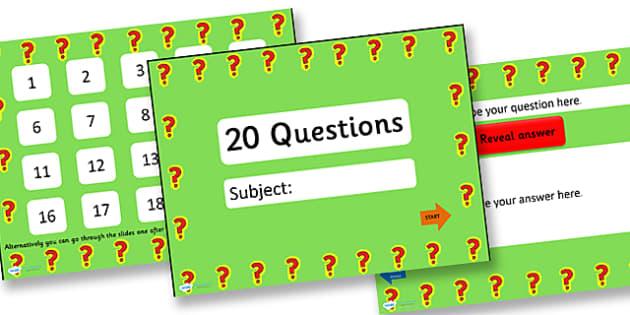 powerpoint quiz template