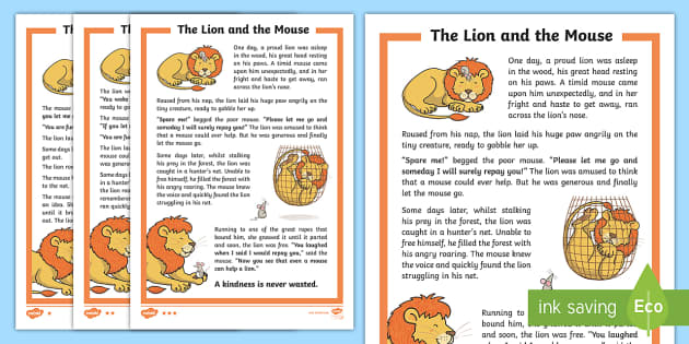 image regarding The Lion and the Mouse Story Printable known as The Lion and the Mouse Tale Essential Elements - Tale, Ethical