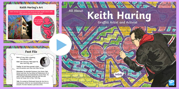 KS2 All About Keith Haring Graffiti Artist PowerPoint
