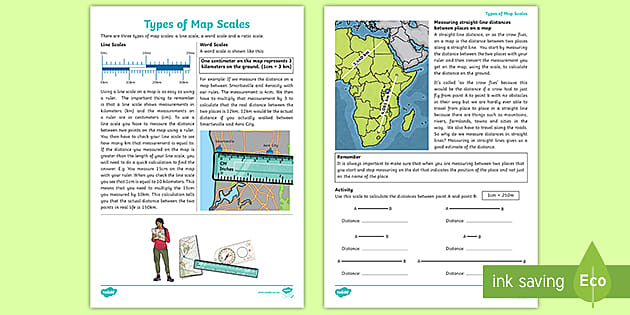 Types Of Map Scales Teacher Made