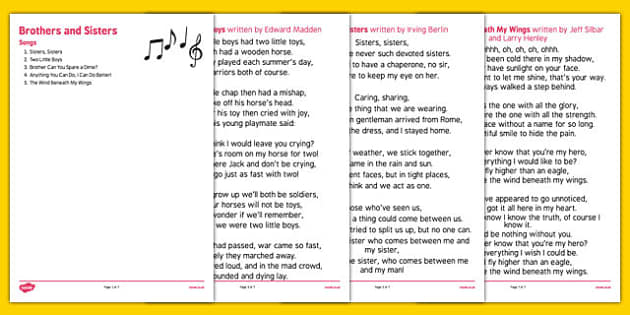 Elderly Care Life History Book Brothers and Sisters Songs