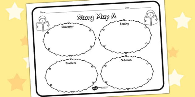 Story Map A Worksheet Story Map A Story Stories Story