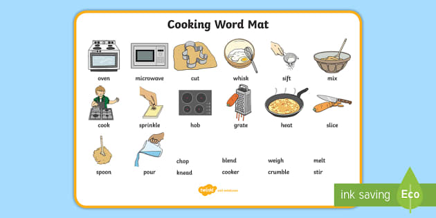 Free Cooking Word Mat Teacher Made