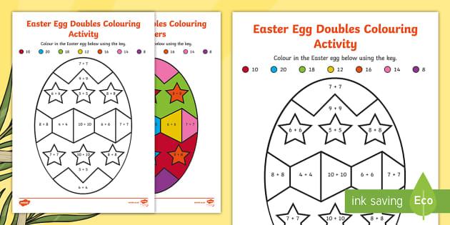 Easter Egg Doubles Colouring Worksheet / Worksheet - NI ...