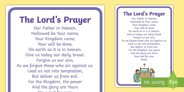 The Lord's Prayer Display Posters - Church, Christian