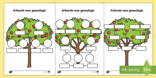 Arborele genealogic in franceza