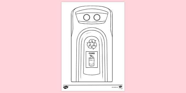 Recycling Bin Cans Colouring Sheet Recycling Bin Plastic Colouring Sheet