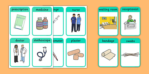 Doctor's Surgery Flash Cards - doctors, people who help us ...