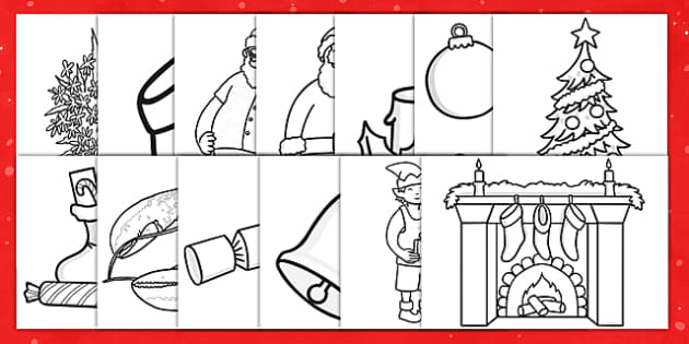 Christmas Colouring Pages australia