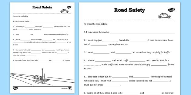Road Safety Worksheets Worksheets Road Safety Road Safe