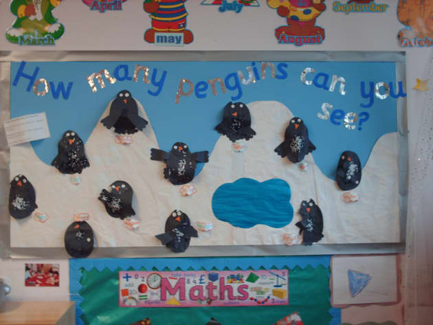 Count Penguins Display Classroom Display Maths Counting